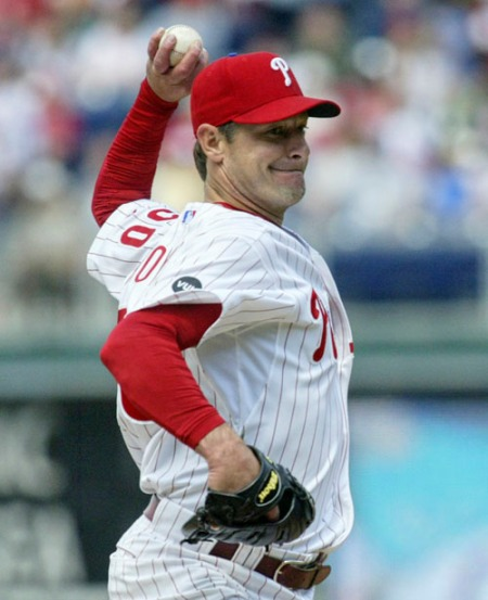 Jamie Moyer has been relegated to bullpen duty since Pedro Martinez has been added to the Phillies starting rotation.